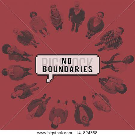 No Boundaries Community Diversity Global Concept