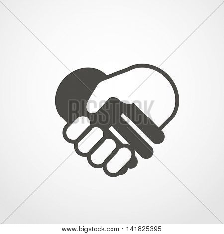 web icon of shaking hands. Digital application pictogram. Shaking hands vector icon
