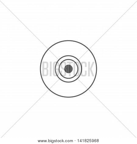 Vector illustration of web camera icon on white background. Simple black symbol. Eps10 format vector.