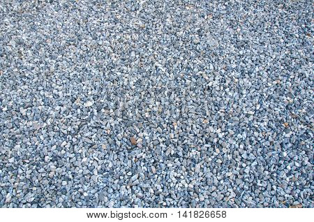 Crushed gravel texture on ground, background or texture