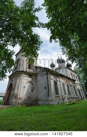 Kalyazinsky of local lore Museum named Nikolsky (building of former Epiphany Church) Kalyazin Russia