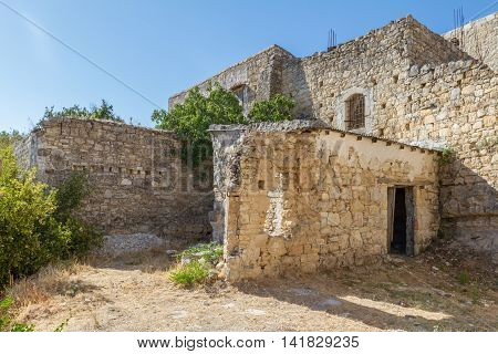 Old Buildings In The Traditional Village Of Lofou In Cyprus