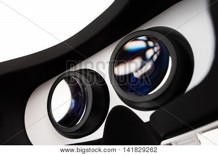 Medical glasses for study of computer vision effects. Medical, health, ophthalmology, modern technologies in medicine concept