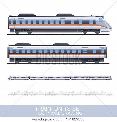 Color Train Illustration