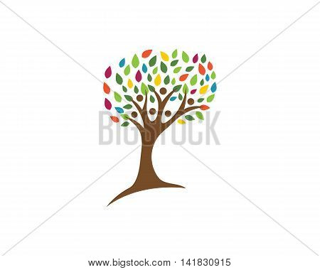 Family Tree Logo template vector icon design