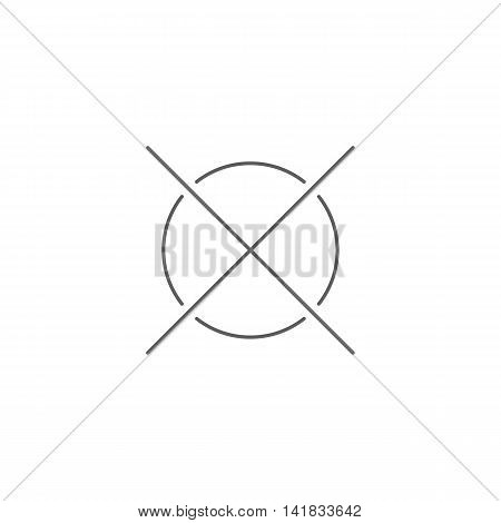 Vector illustration of cancel icon on white background. Simple black symbol. Eps10 format vector.