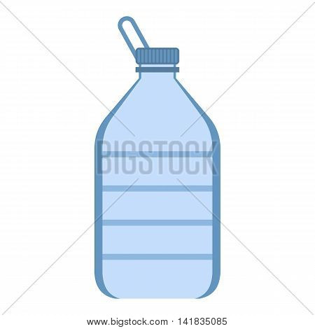 Big plastic bottle icon in flat style isolated on white background. Water symbol