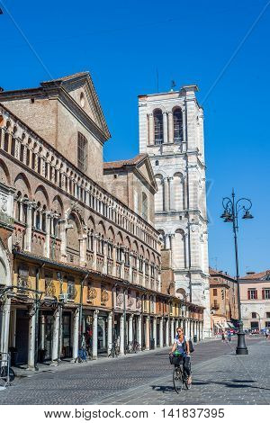 San Giorgio Cathedral, Duomo Of Ferrara. Emilia-romagna. Italy.