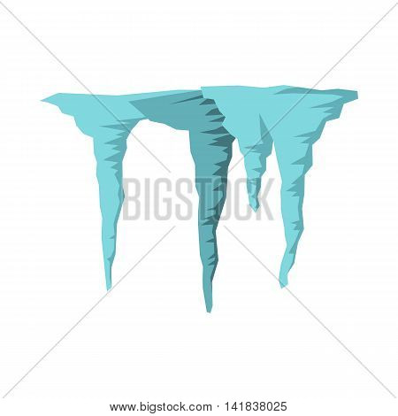 Icicles icon in flat style isolated on white background. Winter symbol