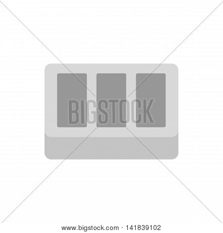 Concrete brick icon in flat style isolated on white background. Construction symbol