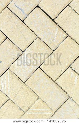 The texture of paving stone masonry. Closeup