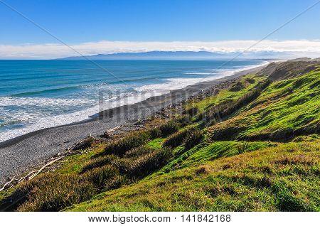 Rough Coastal Landscape In South Island, New Zealand