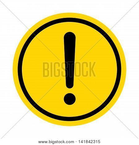 Hazard warning sign with Circle symbol isolated on white background.