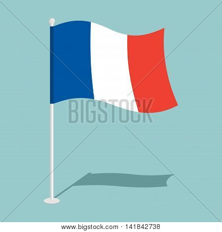 Flag Of France. Official National Symbol National Symbol Of  French State. Traditional French Paced