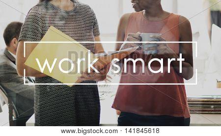 Work Smart Flow Effective Planning Productive Concept