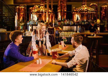Young men in a pub