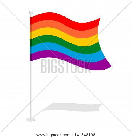 Lgbt Flag. Official Symbol Of Homosexual Community. Traditional Paced Flag For Gay And Lesbians