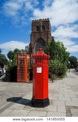 SHREWSBURY, ENGLAND - AUGUST 7: Traditional, red