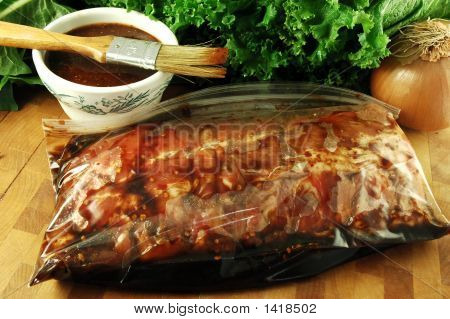 Marinating Ribs