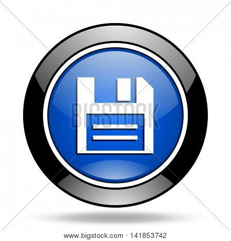 disk blue glossy icon