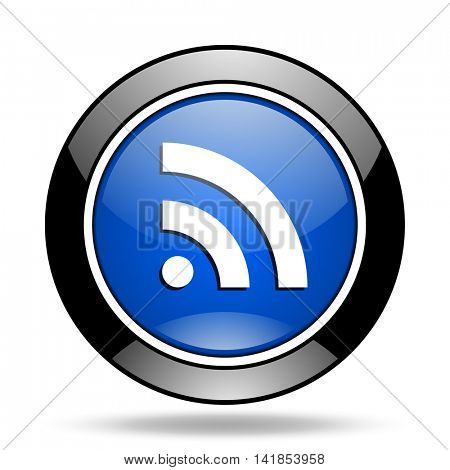 rss blue glossy icon