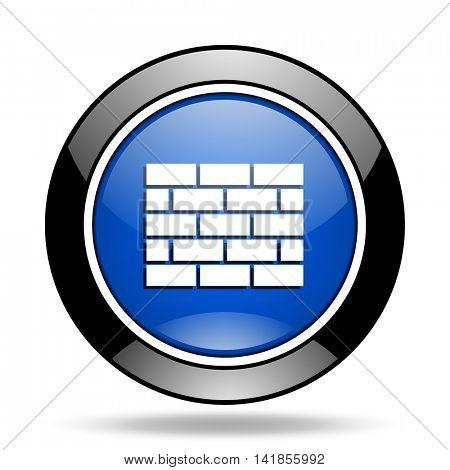 firewall blue glossy icon