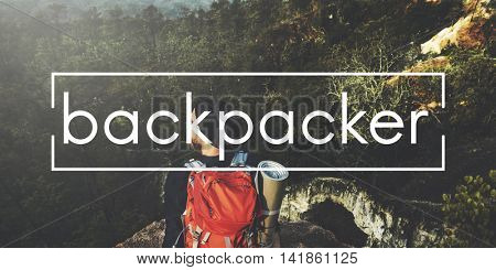 Camp Backpacker Adventure Concept