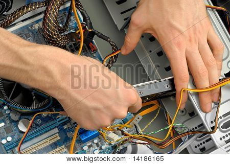 Inserting A Hard Drive