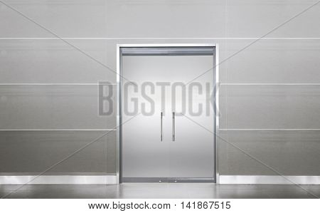 Blank Door In A Empty Room