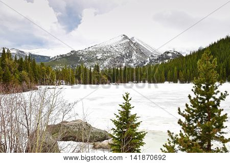 Bear Lake in Rocky Mountains, Colorado, USA
