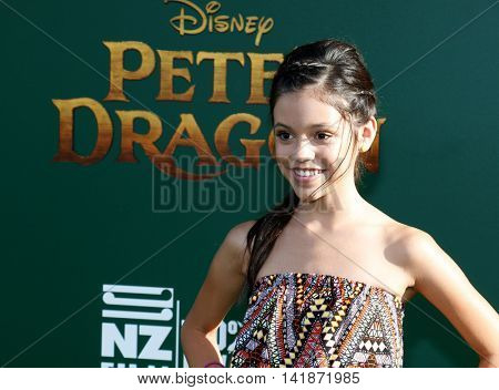 Jenna Ortega at the World premiere of 'Pete's Dragon' held at the El Capitan Theatre in Hollywood, USA on August 8, 2016.