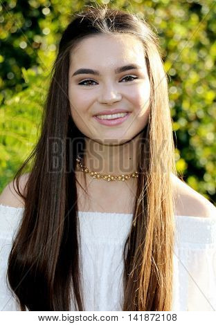 Landry Bender at the World premiere of 'Pete's Dragon' held at the El Capitan Theatre in Hollywood, USA on August 8, 2016.