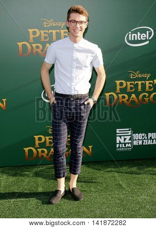 Jordan Doww at the World premiere of 'Pete's Dragon' held at the El Capitan Theatre in Hollywood, USA on August 8, 2016.