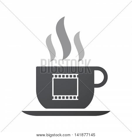 Isolated Coffee Cup Icon With   A Photographic 35Mm Film Strip