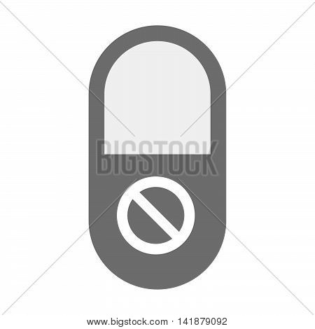 Isolated Pill Icon With  A Forbidden Sign