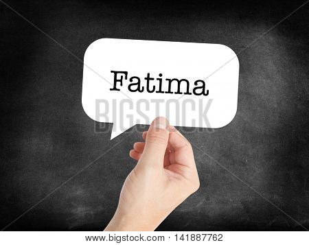 Fatima written in a speechbubble