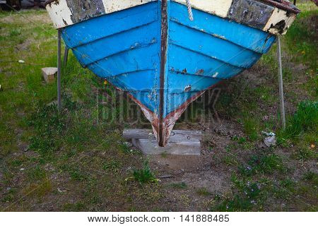 Old, Ruined Wooden Boat Detalis, Clouse-up