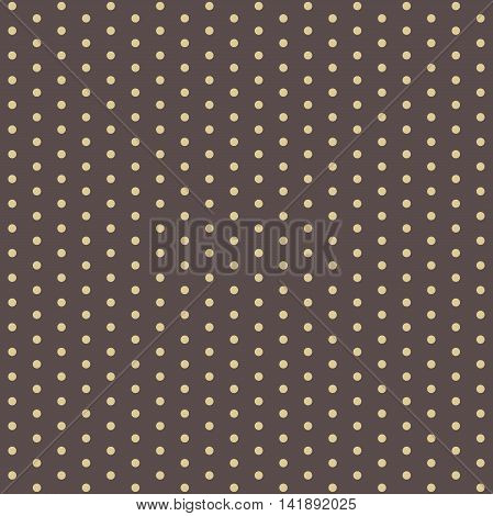 Seamless geometric modern pattern. Fine pattern with dotted elements. Brown and yellow pattern. Polka dot pattern. Dotted pattern