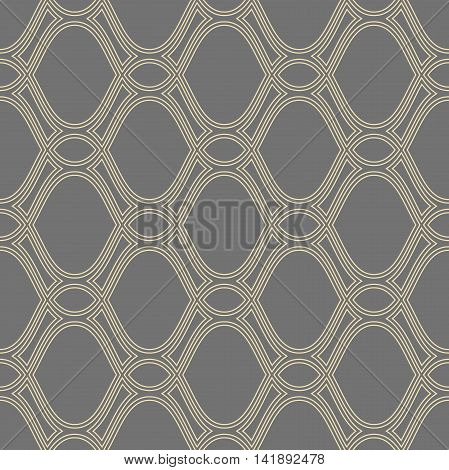 Seamless pattern. Modern geometric ornament with repeating elements
