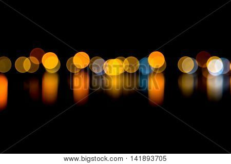 defocused lights background . abstract bokeh lights