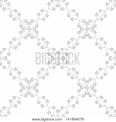 Seamless pattern. Modern geometric pattern. Silver pattern with repeating elements