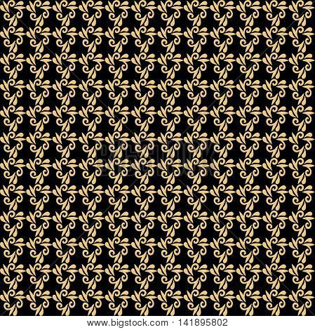 Seamless golden pattern. Modern geometric pattern with repeating elements