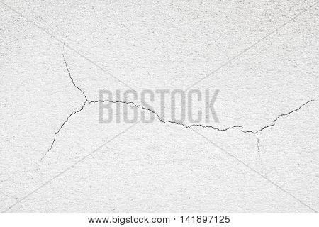White walls crack texture / White concrete wall surface crack.