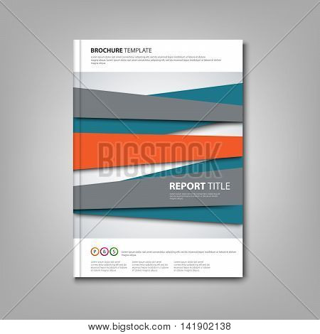 Brochures book or flyer with abstract design stripes vector eps 10