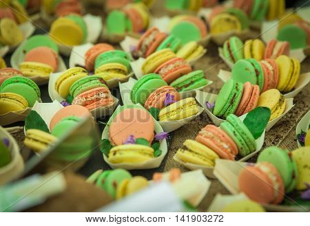 Multicolored Sweet Candies On Markets Entices One To Taste