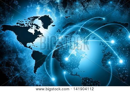 3D Physical world map illustration. Elements of this image furnished by NASA