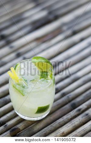 caipirinha rum lime and sugar brazilian cocktail drink