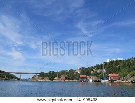 The bridge between orust and tjörn on swedish westcoast