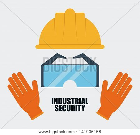 Yellow helmet icon. Industrial Security. Colorfull Vector illustration