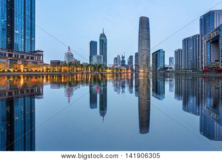 Cityscape of Shanghai at nigh